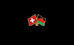 Switzerland - Malawi Friendship Flag Pin, Badge - 22 mm