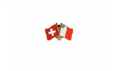Switzerland - Malta Friendship Flag Pin, Badge - 22 mm