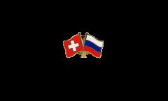 Switzerland - Russia Friendship Flag Pin, Badge - 22 mm