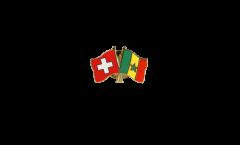 Switzerland - Senegal Friendship Flag Pin, Badge - 22 mm