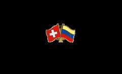 Switzerland - Venezuela 8 stars Friendship Flag Pin, Badge - 22 mm