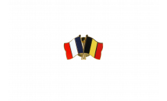 France - Belgium Friendship Flag Pin, Badge - 22 mm