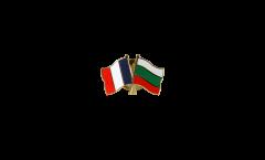 France - Bulgaria Friendship Flag Pin, Badge - 22 mm