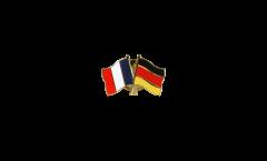 France - Germany Friendship Flag Pin, Badge - 22 mm