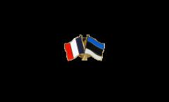 France - Estonia Friendship Flag Pin, Badge - 22 mm