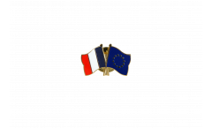 France - Europe Friendship Flag Pin, Badge - 22 mm