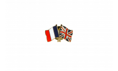 France - Great Britain Friendship Flag Pin, Badge - 22 mm