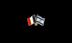 France - Israel Friendship Flag Pin, Badge - 22 mm