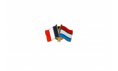 France - Luxembourg Friendship Flag Pin, Badge - 22 mm