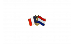 France - Netherlands Friendship Flag Pin, Badge - 22 mm