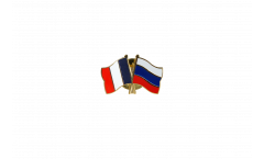 France - Russia Friendship Flag Pin, Badge - 22 mm