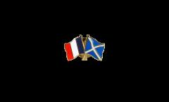 France - Scotland Friendship Flag Pin, Badge - 22 mm