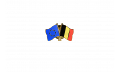 Europe - Belgium Friendship Flag Pin, Badge - 22 mm