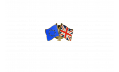 Europe - Great Britain Friendship Flag Pin, Badge - 22 mm
