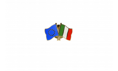 Europe - Italy Friendship Flag Pin, Badge - 22 mm