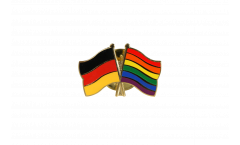 Germany - Rainbow Friendship Flag Pin, Badge - 22 mm