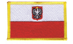 Poland with eagle Patch, Badge - 3.15 x 2.35 inch