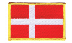 Denmark Patch, Badge - 3.15 x 2.35 inch