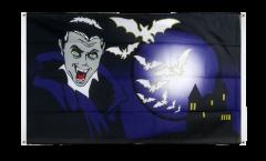Halloween Vampire and Bats Flag for balcony - 3 x 5 ft.