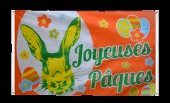 Joyeuses Pâques - Happy Easter Flag for balcony - 3 x 5 ft.