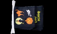 Happy Halloween 4 Bunting Flags - 5.9 x 8.65 inch