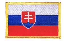 Slovakia Patch, Badge - 3.15 x 2.35 inch