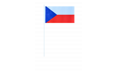 Czech Republic paper flags -  4.7 x 7 inch / 12 x 24 cm