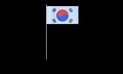 South Korea paper flags -  4.7 x 7 inch / 12 x 24 cm