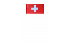 Switzerland paper flags -  4.7 x 7 inch / 12 x 24 cm