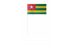Togo paper flags -  4.7 x 7 inch / 12 x 24 cm