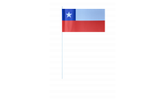 Chile paper flags -  4.7 x 7 inch / 12 x 24 cm