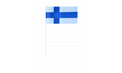 Finland paper flags -  4.7 x 7 inch / 12 x 24 cm