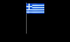 Greece paper flags -  4.7 x 7 inch / 12 x 24 cm