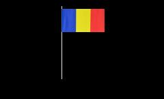 Rumania paper flags -  4.7 x 7 inch / 12 x 24 cm