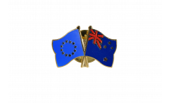 Europe - New Zealand Friendship Flag Pin, Badge - 22 mm
