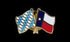 Bavaria - USA Texas Friendship Flag Pin, Badge - 22 mm