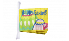 Happy Easter Bunting Flags - 5.9 x 8.65 inch