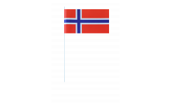 Norway paper flags -  4.7 x 7 inch / 12 x 24 cm
