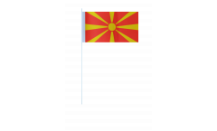 Macedonia paper flags -  4.7 x 7 inch / 12 x 24 cm