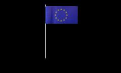 European Union EU paper flags -  4.7 x 7 inch / 12 x 24 cm