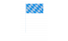 Germany Bavaria without crest paper flags -  4.7 x 7 inch / 12 x 24 cm