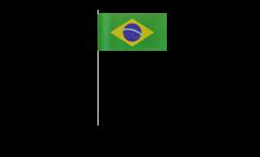 Brazil paper flags -  4.7 x 7 inch / 12 x 24 cm