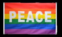 Rainbow with PEACE Flag for balcony - 3 x 5 ft.