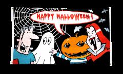 Happy Halloween Monster Flag for balcony - 3 x 5 ft.