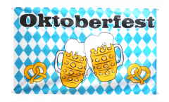 Oktoberfest Beer and Pretzel Flag for balcony - 3 x 5 ft.