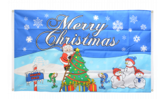 Merry Christmas North Pole Flag for balcony - 3 x 5 ft.