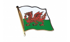 Wales Flag Pin, Badge - 1 x 1 inch