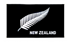 New Zealand feather all blacks Flag for balcony - 3 x 5 ft.