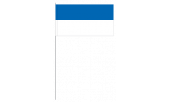 Stripe blue white paper flags -  4.7 x 7 inch / 12 x 24 cm