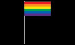 Rainbow paper flags -  4.7 x 7 inch / 12 x 24 cm